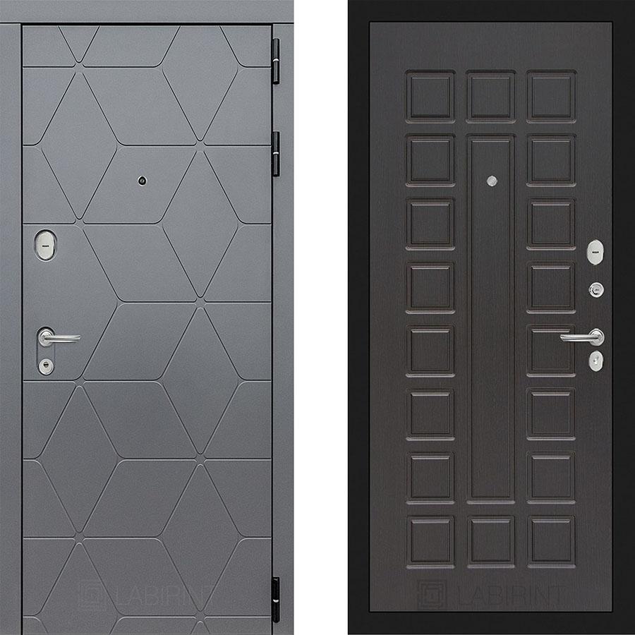 Металлическая дверь Лабиринт COSMO 04 Венге