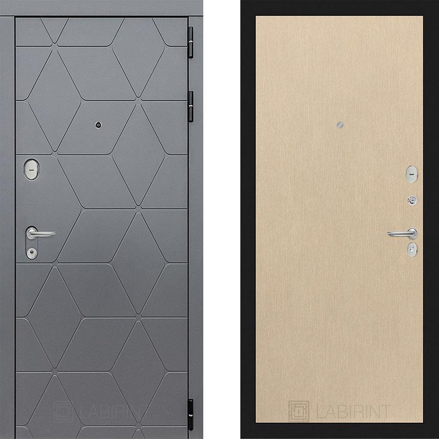 Металлическая дверь Лабиринт COSMO 05 Венге светлый