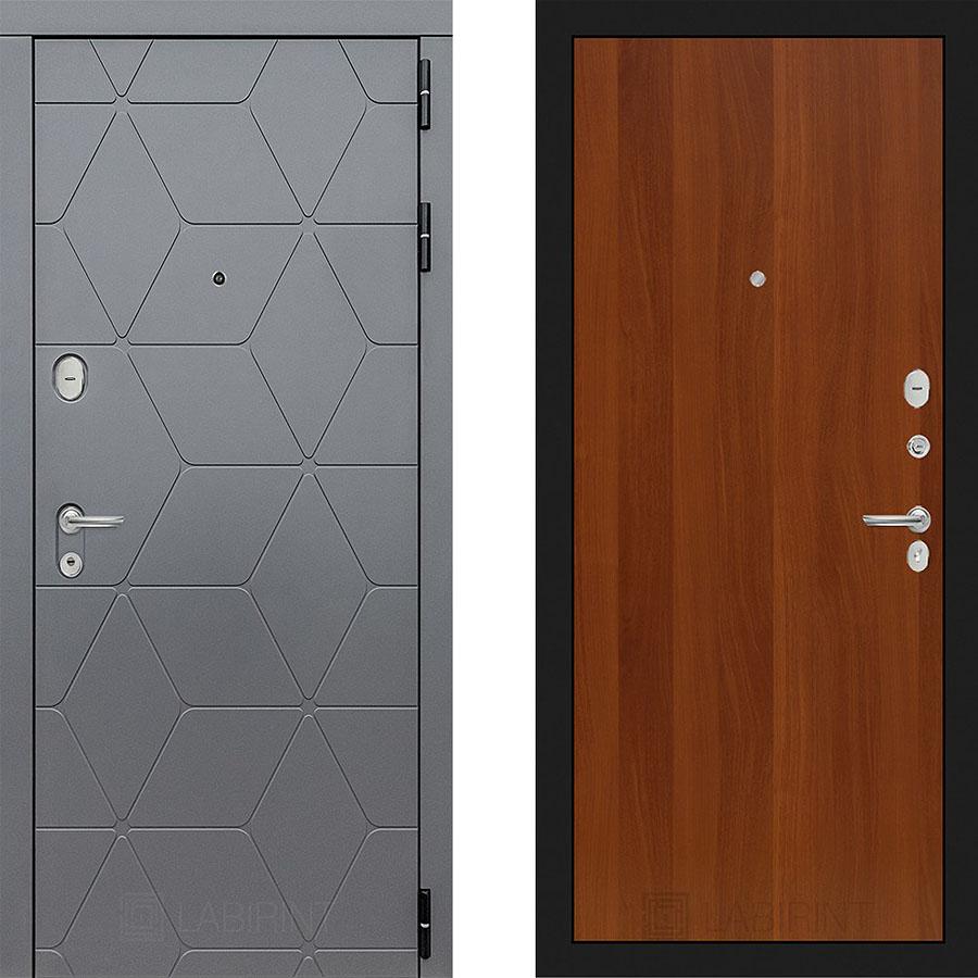 Металлическая дверь Лабиринт COSMO 05 Итальянский орех