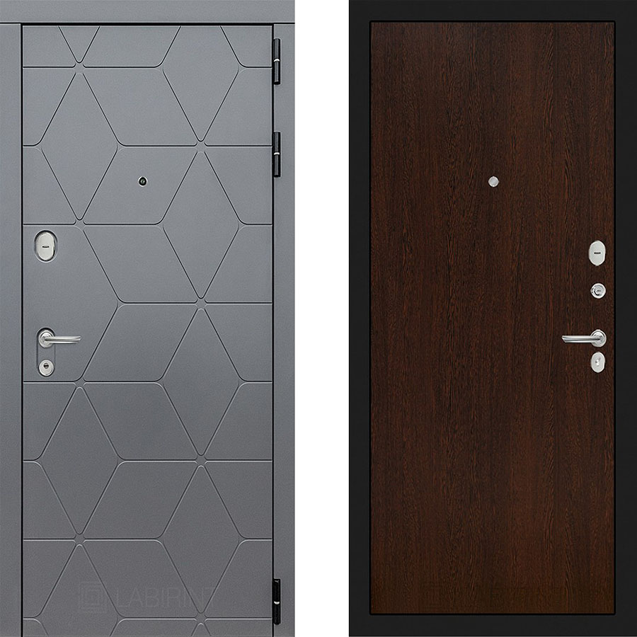Металлическая дверь Лабиринт COSMO 05 Венге