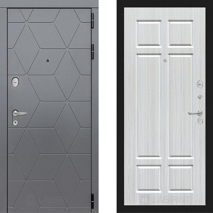 Металлическая дверь Лабиринт COSMO 08 Кристал вуд