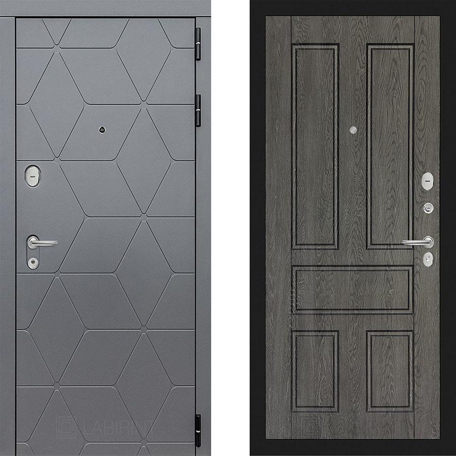 Металлическая дверь Лабиринт COSMO 10 Дуб филадельфия графит