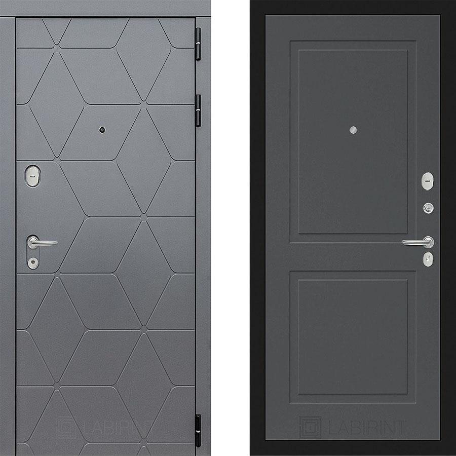 Металлическая дверь Лабиринт COSMO 11 Грэй софт