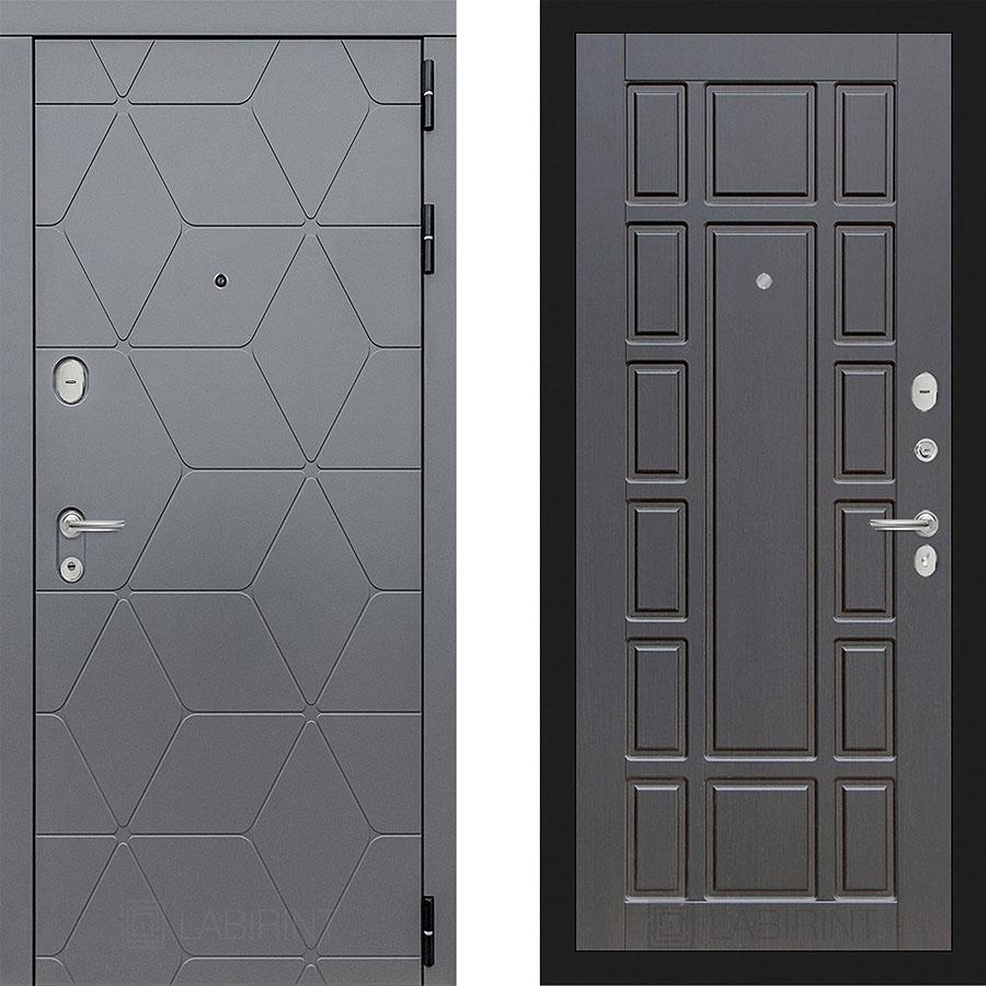 Металлическая дверь Лабиринт COSMO 12 Венге