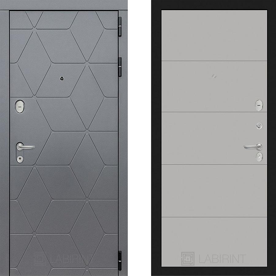 Металлическая дверь Лабиринт COSMO 13 Грэй софт