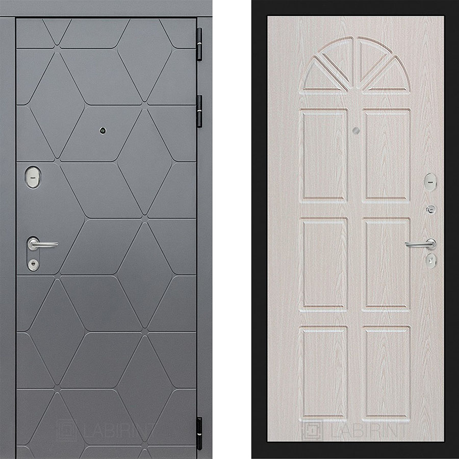 Металлическая дверь Лабиринт COSMO 15 - Алмон 25