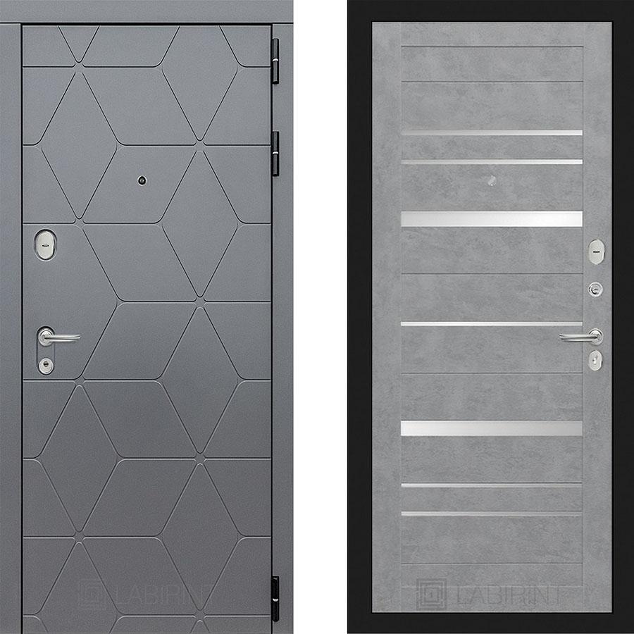 Металлическая дверь Лабиринт COSMO 20 Бетон светлый