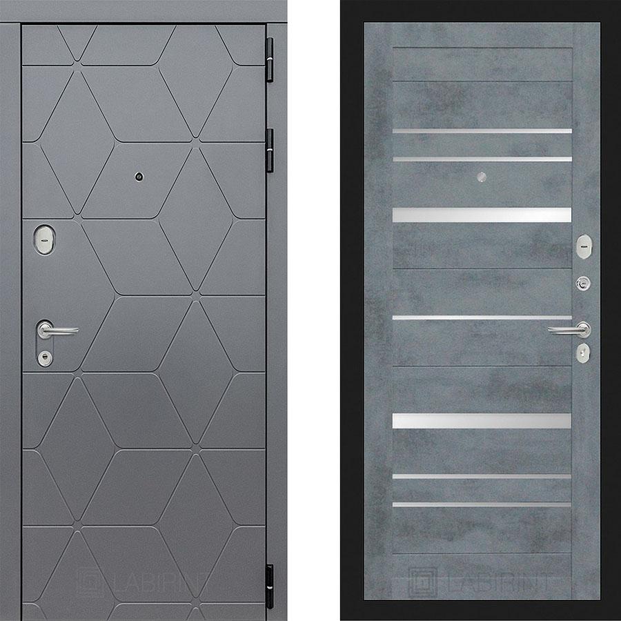 Металлическая дверь Лабиринт COSMO 20 Бетон темный