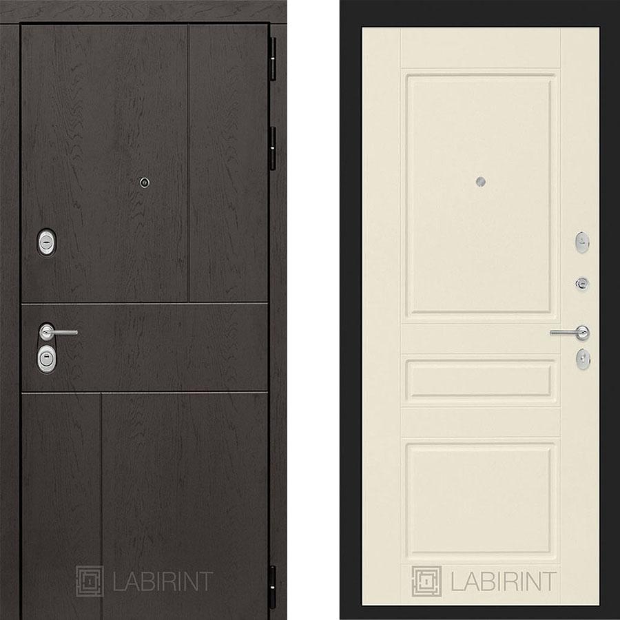 Металлическая дверь Лабиринт URBAN 03 Крем софт
