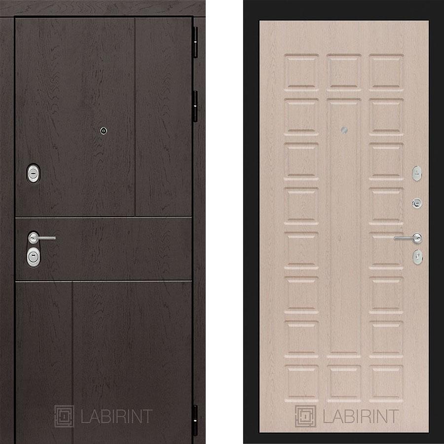 Металлическая дверь Лабиринт URBAN 04 Беленый дуб
