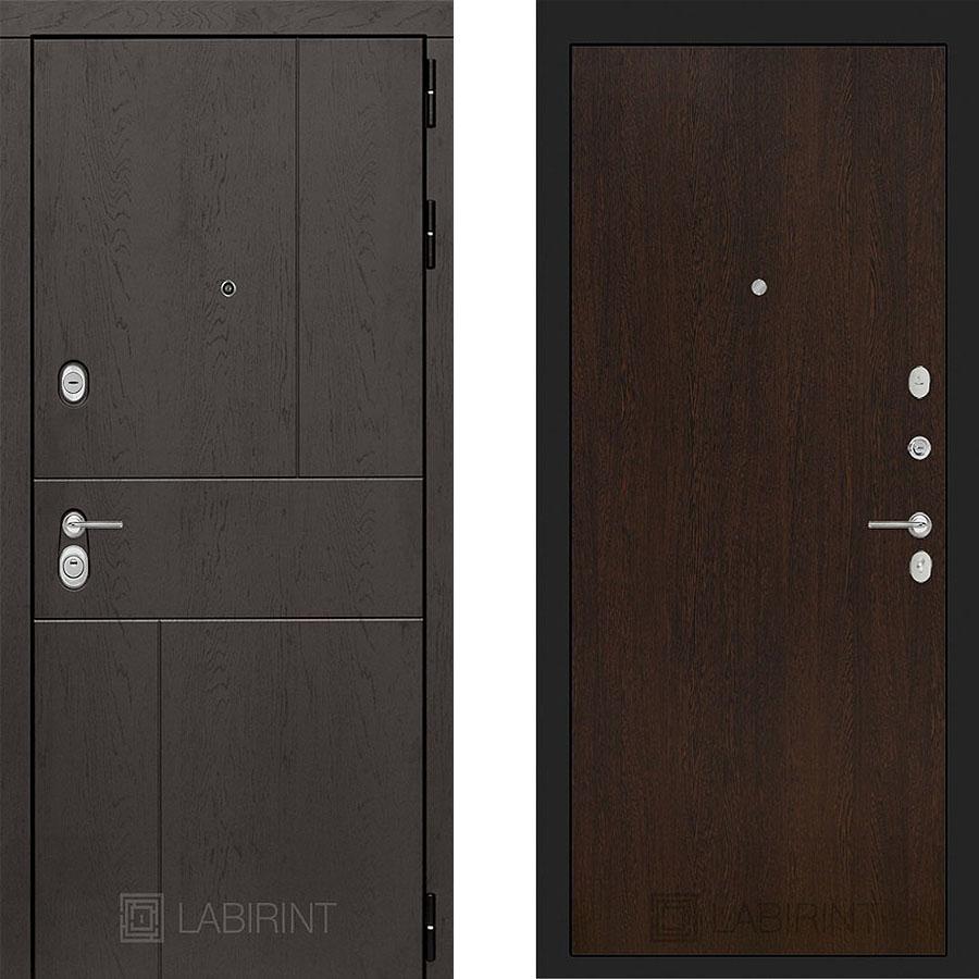 Металлическая дверь Лабиринт URBAN 05 Венге