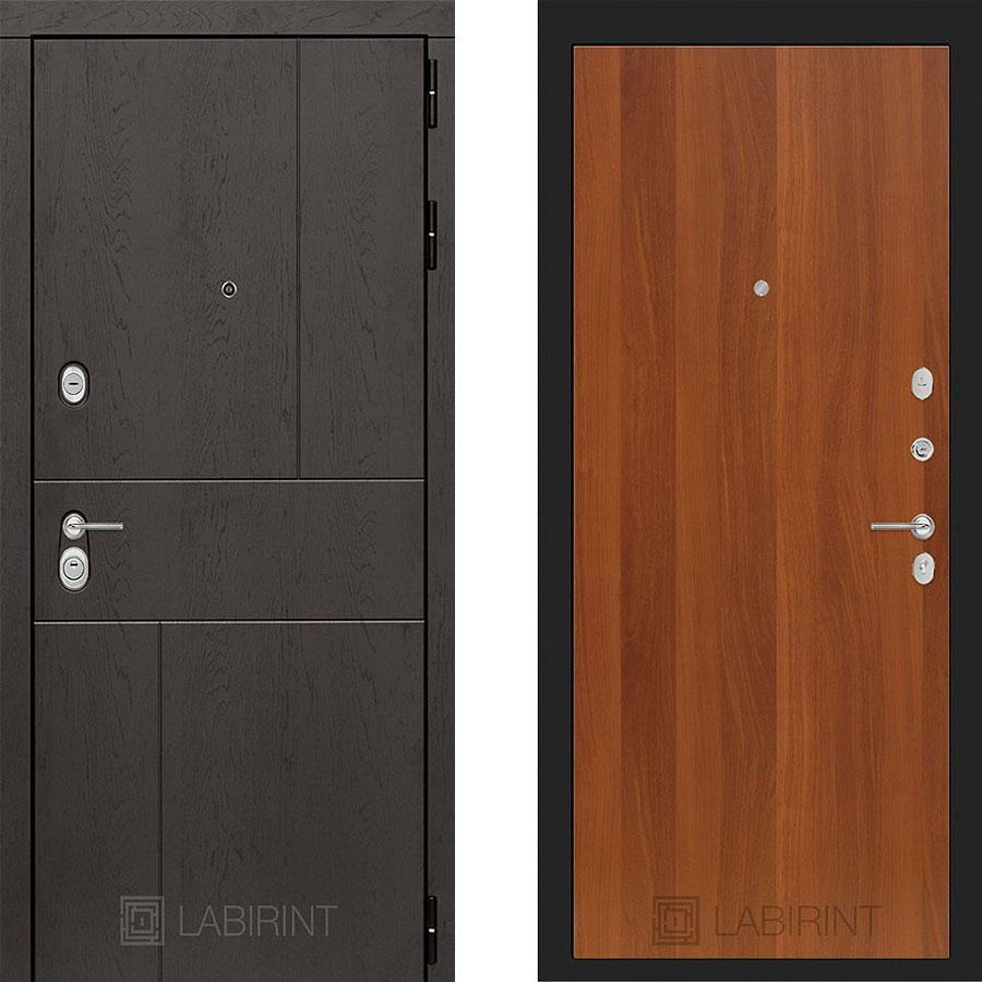 Металлическая дверь Лабиринт URBAN 05 Итальянский орех