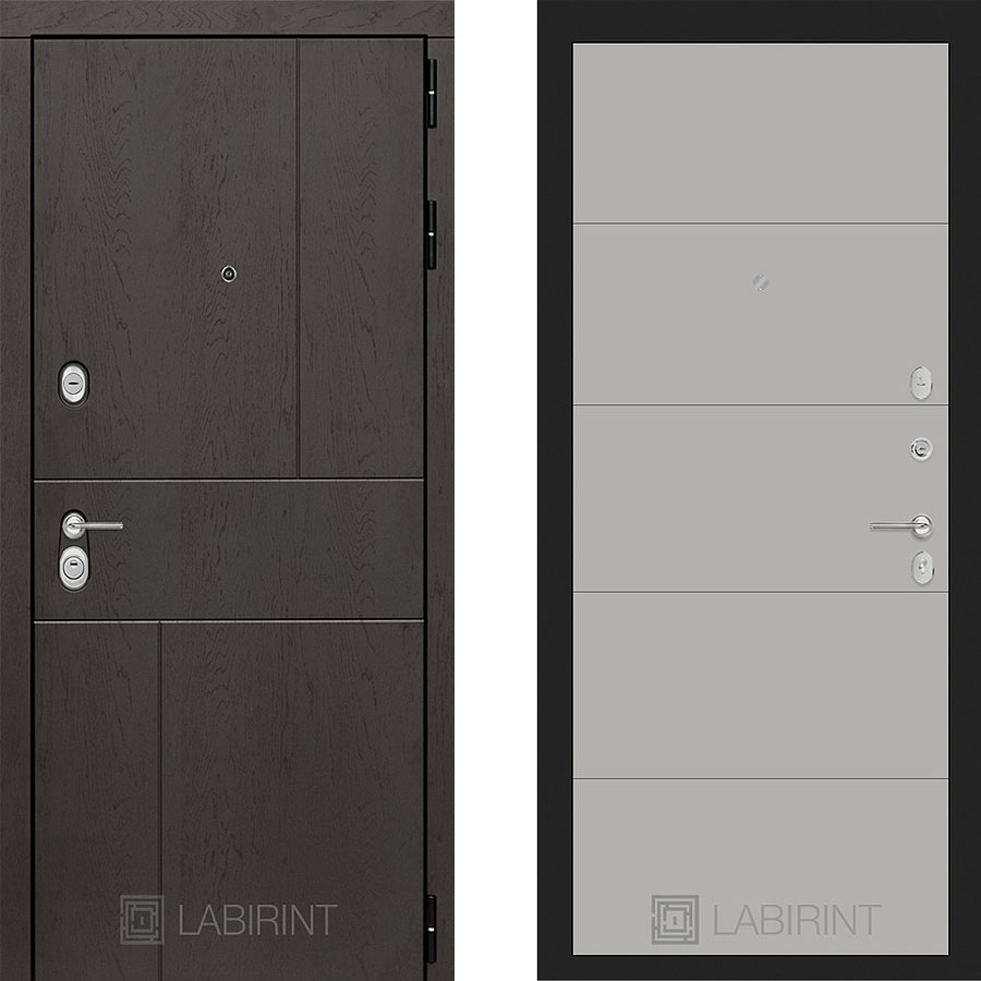 Металлическая дверь Лабиринт URBAN 13 Грэй софт