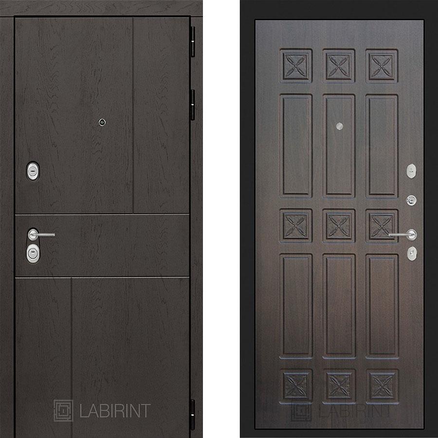 Металлическая дверь Лабиринт URBAN 16 Алмон 28