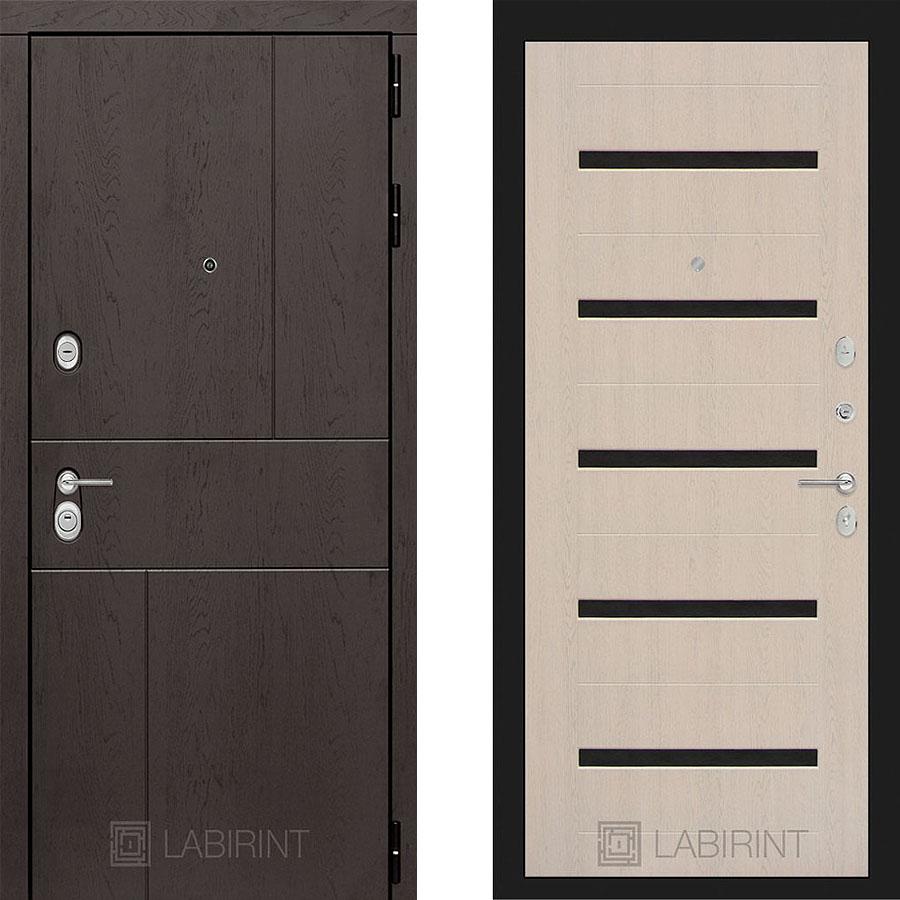 Металлическая дверь Лабиринт URBAN 01 Беленый дуб