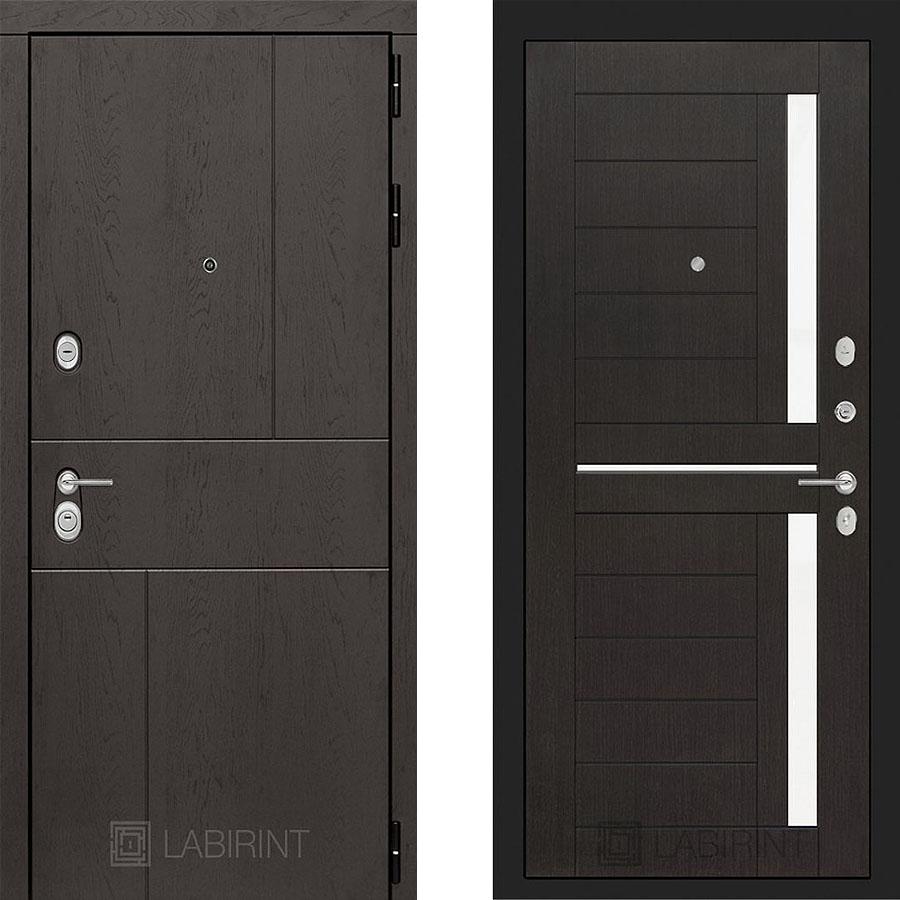 Металлическая дверь Лабиринт URBAN 02 Венге