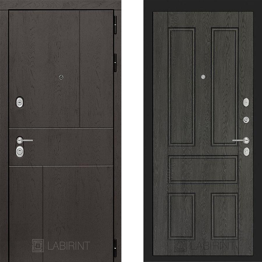 Металлическая дверь Лабиринт URBAN 10 Дуб филадельфия графит