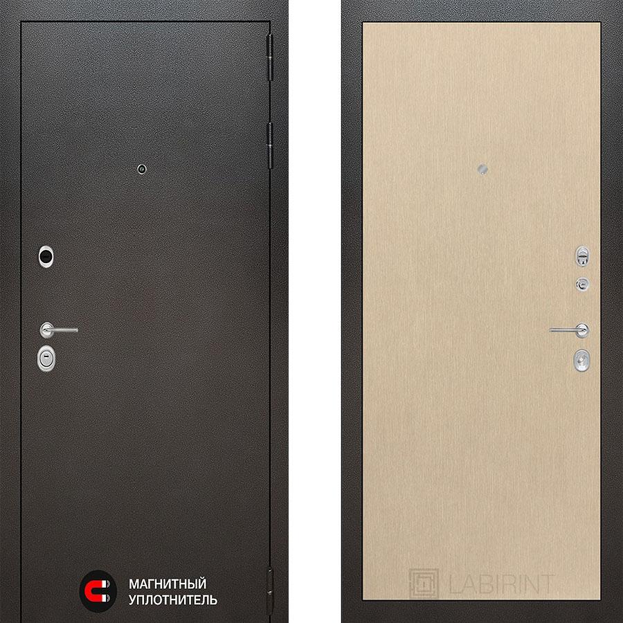 Металлическая дверь Лабиринт SILVER 05 Венге светлый