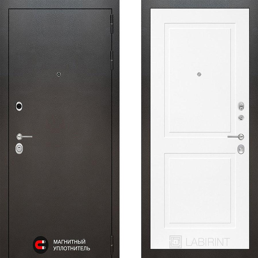 Металлическая дверь Лабиринт SILVER 11 Белый софт