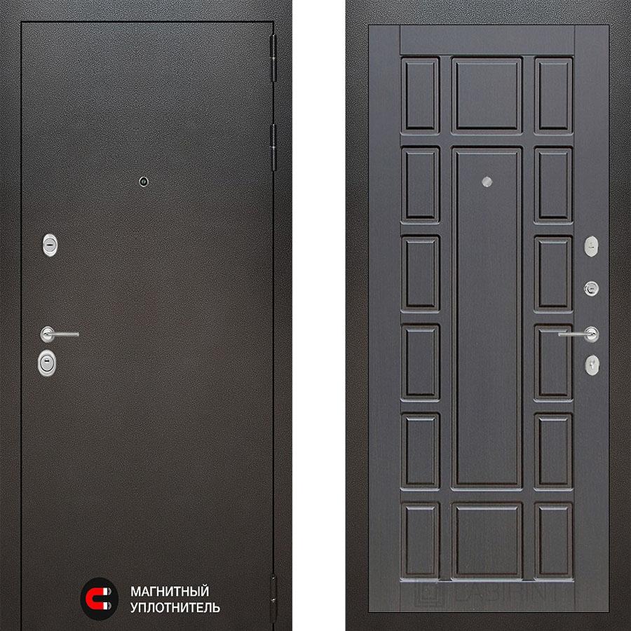 Металлическая дверь Лабиринт SILVER 12 Венге