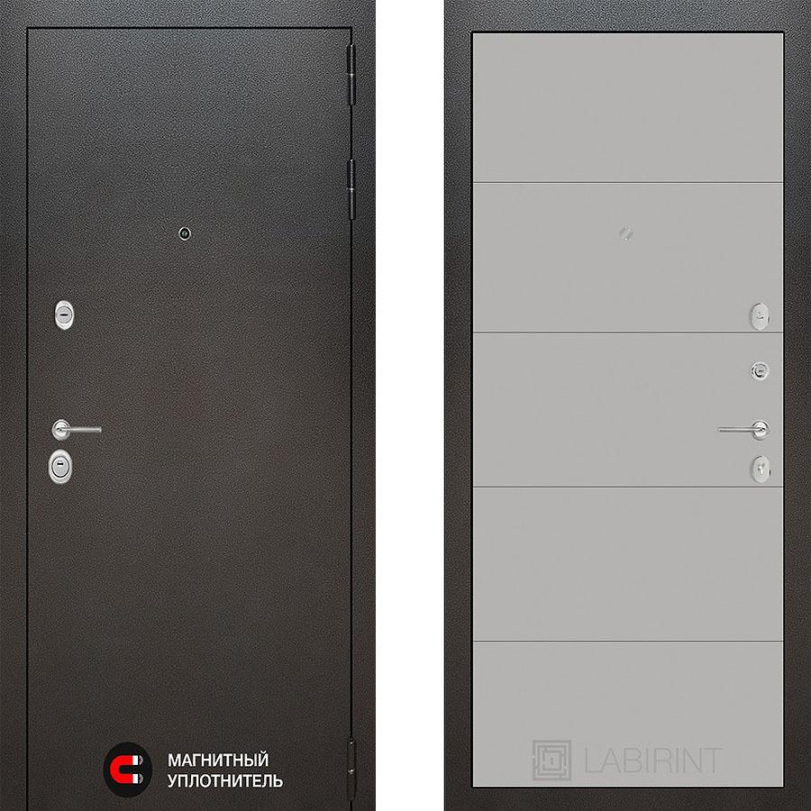 Металлическая дверь Лабиринт SILVER 13 Грэй софт