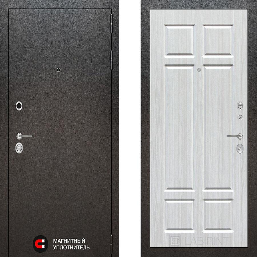 Металлическая дверь Лабиринт SILVER 08 Кристал вуд