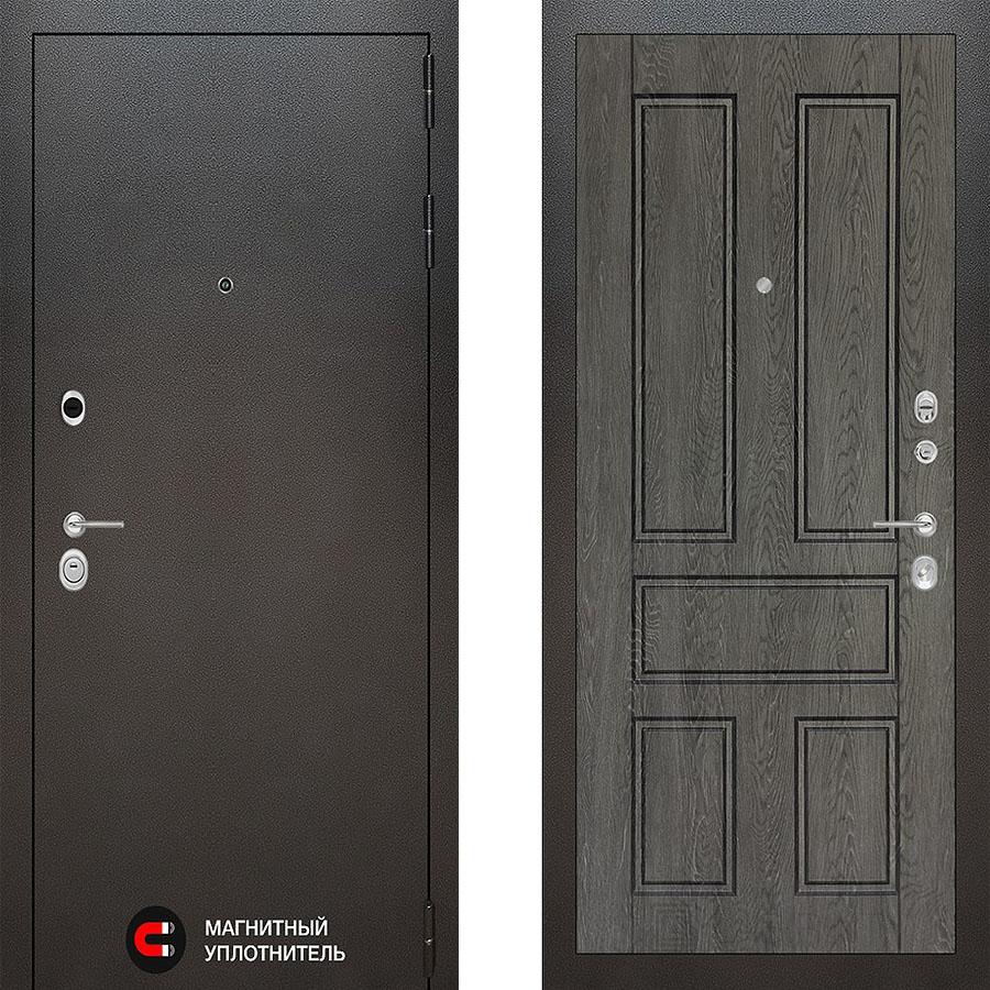 Металлическая дверь Лабиринт SILVER 10 Дуб филадельфия графит