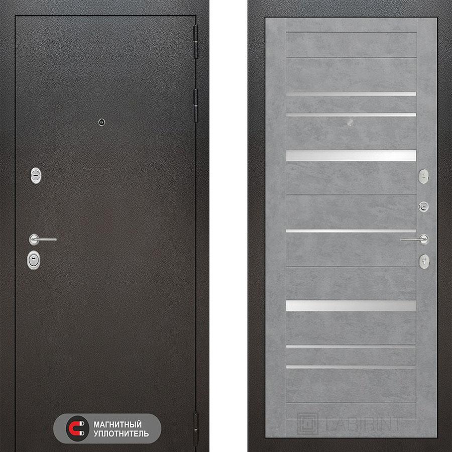 Металлическая дверь Лабиринт SILVER 20 Бетон светлый