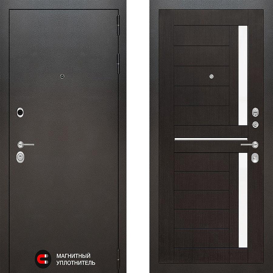 Металлическая дверь Лабиринт SILVER 02 Венге