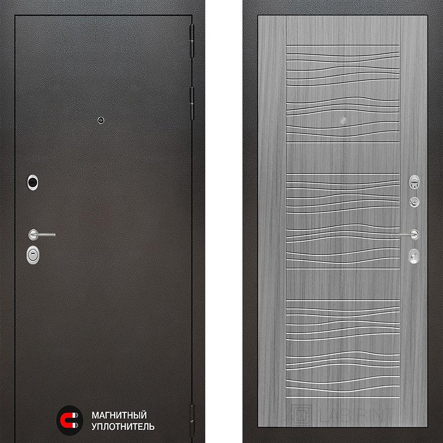Металлическая дверь Лабиринт COSMO 06 Сандал серый