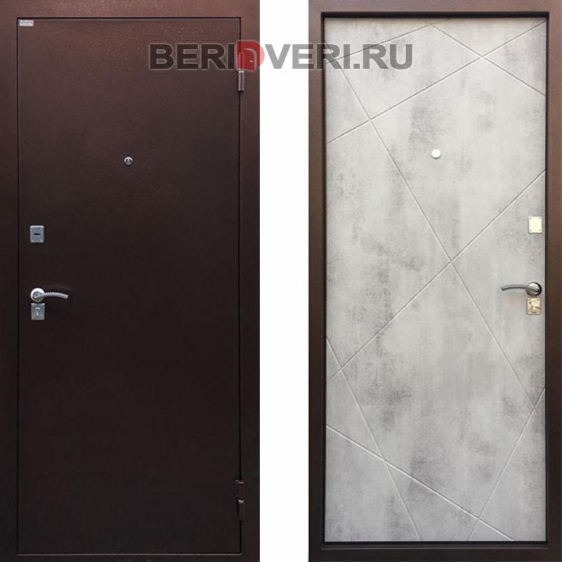 Металлическая дверь Ратибор Рубеж Бетон светлый