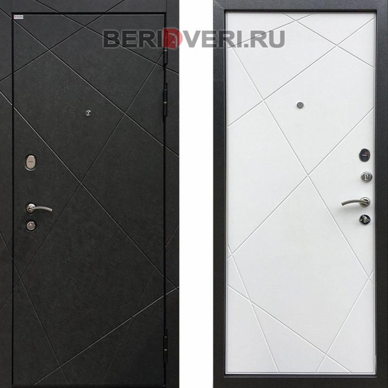 Металлическая дверь Ратибор Эстет 3К Силк сноу