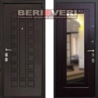 Металлическая дверь REX 4A Зеркало Венге
