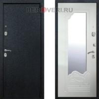 Металлическая дверь REX 3 Зеркало Белый ясень