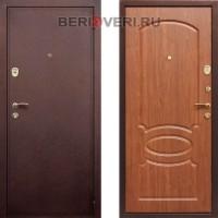 Металлическая дверь  REX 2 Орех