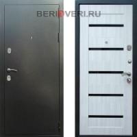 Металлическая дверь REX 5A Серебро Сандал белый