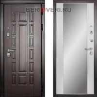 Металлическая дверь Дива МД-38 с зеркалом