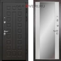 Металлическая дверь Дива МД-30 Зеркало Беленый дуб