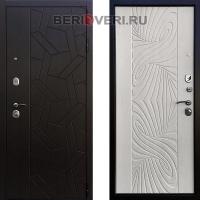 Металлическая дверь Ратибор Витраж 3К Лиственница