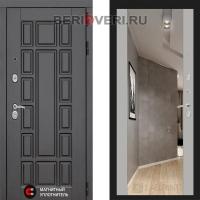 Металлическая дверь Лабиринт Нью-Йорк Зеркало Максимум Софт грей