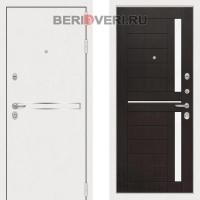 Металлическая дверь Лабиринт Лайн White 02 Венге