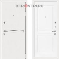 Металлическая дверь Лабиринт Лайн White 11 Белый софт