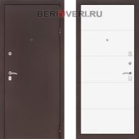 Металлическая дверь Лабиринт CLASSIC антик медный 13 - Белый софт