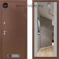 Металлическая дверь Лабиринт Термо Магнит с Зеркалом Максимум Грей софт