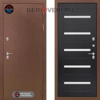 Металлическая дверь Лабиринт Термо Магнит 01 Венге, стекло белое