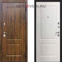 Металлическая дверь Снедо V02 2K Альберо Браш Браун