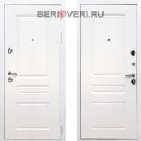 Металлическая дверь REX Премиум H ФЛ-243 Белый / Белый