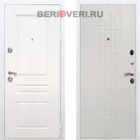 Металлическая дверь REX Премиум H ФЛ-289 Белый / Роял Вуд Белый