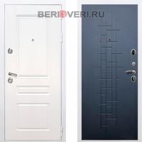 Металлическая дверь REX Премиум H ФЛ-289 Белый / Ясень черный