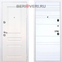 Металлическая дверь REX Премиум H ФЛ-14 Белый / Белый софт